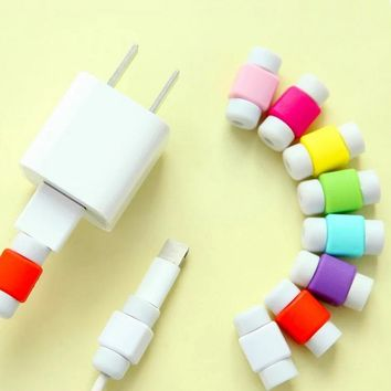 10 Pcs Mini USB Cable Protector Cord Protection Wire Cover For Phone Tablet Data Charger Earphone Line Protected Cover GDeals