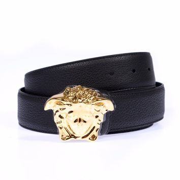 Versace Belt Sz. 90 Leather MADE IN ITALY Man Black DCU4140DGOV2-D410H PUT OFFER