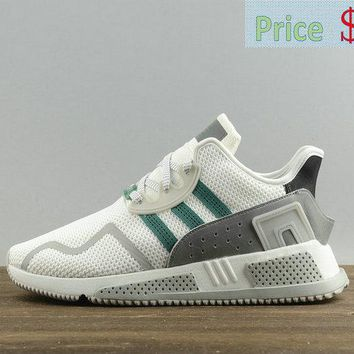 Purchase 2018 Mens Adidas Originals EQT Cushion ADV White Green Athletic Shoes CP9458 shoes