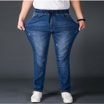 Mens Jeans Plus Size 28-52 Stretch Denim 3 colors Men's Straight Jeans Pants Casual Relax Loose Fit Jeans Trousers Pants