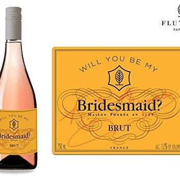 Will You Be My  Set of 8 Bride amp Co Wedding Labels for Wine Bottle amp Gift Box  Bridesmaid amp Maid of Honor Proposal  Engagement Party  Bridal Shower