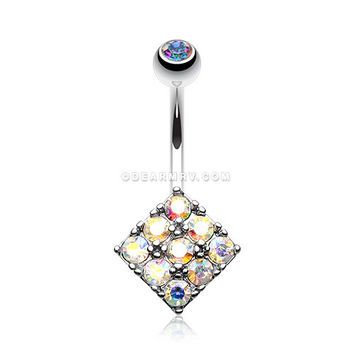 Sparkle Overload Belly Button Ring (Aurora Borealis)