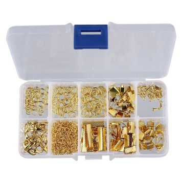 Crafts Jump Rings Kit Making DIY Tools Box Jewelry Making Starter Kit Jewelry Findings Lobster Clasp