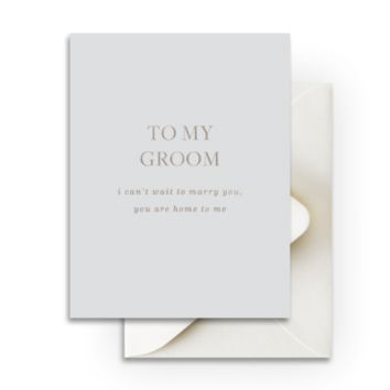 To My Groom Greeting Card