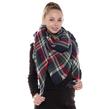 Most Loved Plaid Blanket Scarves - Pick Your Color