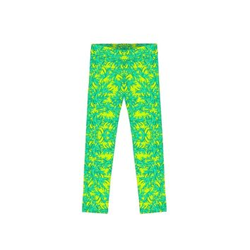 Fiesta Lucy Yellow Cute Summer Vacation Leggings - Girls
