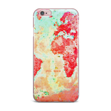 "Alison Coxon ""Oh The Places We'll Go"" World Map iPhone Case"