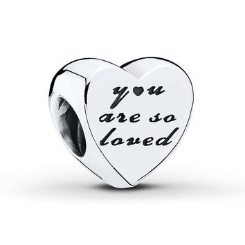 PANDORA Charm You Are So Loved Sterling Silver