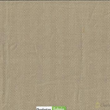Umber Chevron Polyester Fabric