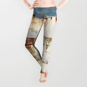 Blue and Rust 1 Leggings by EXIST NYC