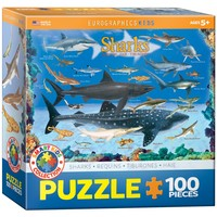 Sharks - 100 Piece Jigsaw Puzzle