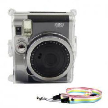 Crystal Transparent Camera PC Hard Case Cover For Fujifilm Instax Mini 90