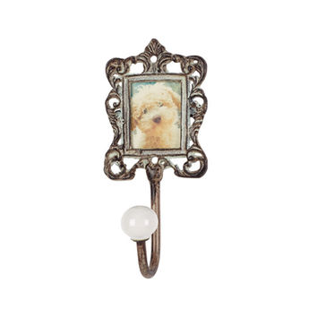 Antique Finish Metal Photo Frame Wall Hook 6-in