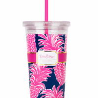 Lilly Pulitzer Tumbler with Straw-Flamenco