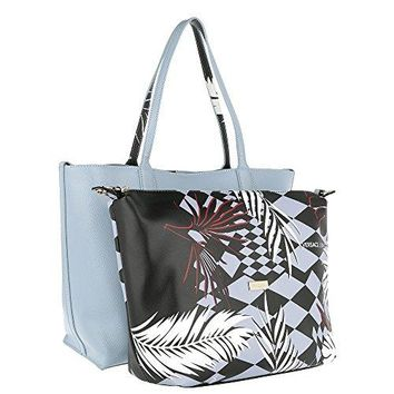 Versace EE1VRBBQB Powder Blue Tote Bag W/ detachable storage pouch and shoulder strap for Women