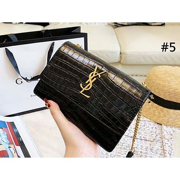 YSL 2019 new female models crocodile pattern chain bag shoulder bag diagonal female bag #5