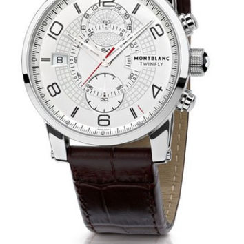 Montblanc TimeWalker TwinFly Chronograph Steel Men's Watch 109134