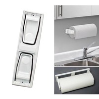 Paper Towel Roll Holder Dispenser Wall Mount Cabinet Kitchen Houseware Plastic ! - Walmart.com