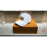 GUCCI leisure men and women fashion exquisite classic logo hat F-LLBPFSH white
