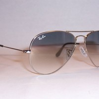 NEW RAY BAN AVIATOR Sunglasses 3025 003/32 SILVER/GRAY 55MM AUTHENTIC