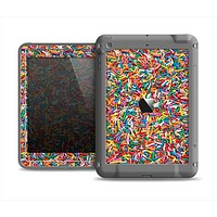 The Colorful Candy Sprinkles Apple iPad Air LifeProof Fre Case Skin Set