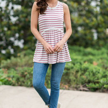 Visualized Comfort Tank, Pink
