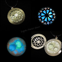 Glow in the Dark Necklace - Moons of Mars - FREE U.S. SHIPPING