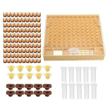 Cool 1Set Beekeeping Queen Rearing Cupkit Box Cell Cups Complete Bee Queen Rearing System Beekeeping Case Set 40AT_93_12