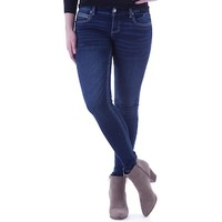 Juniors' Amethyst Faded Medium Wash Skinny Jeans | null