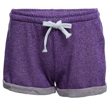 Casual Drawstring Household Crimping Shorts for Women