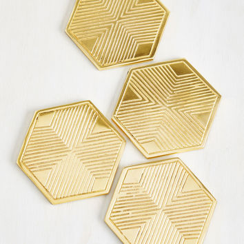 Gild to the Brim Coasters | Mod Retro Vintage Kitchen | ModCloth.com