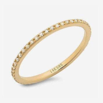 Classic Eternity Band 14k Yellow Gold