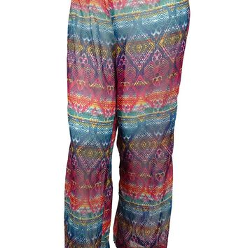 Jessica Simpson Women's Printed Desing Pants Cover ups