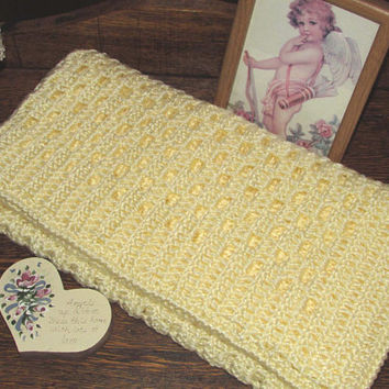 Yellow Baby Blanket, Nursery Blankets, Nursery Gifts, Crocheted, Baby Blankets, Baby Gifts, Baby Shower Gifts, Light Yellow, Hand Crocheted