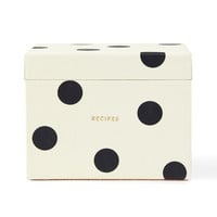 kate spade new york deco dot recipe box