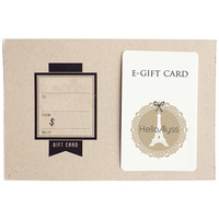 Hello Alyss E-Gift Card