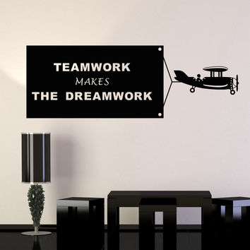 Vinyl Wall Decal Teamwork Quote Office Decoration Art Stickers Murals Unique Gift (ig4647)