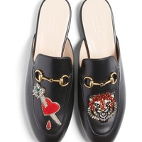Gucci Princetown Backless Loafer (Women) | Nordstrom