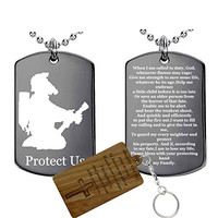 Firefighter's Prayer-(Stainless Steel) Pendant Necklace
