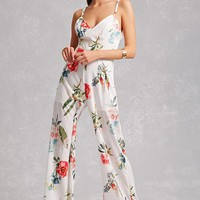 Floral O-Ring Jumpsuit