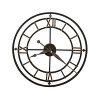 Howard Miller York Station Wall Clock - Wrought-Iron Design w/ Aged Iron Finish