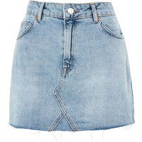 PETITE High-Waist Denim Skirt | Topshop