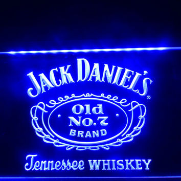 Jack Daniel's Whiskey Old No. 7 LED Neon Sign