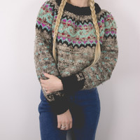 Vintage Marled Thick Knit Wool Sweater