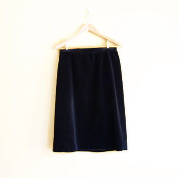 Vintage 70s Black Velvet Skirt - Velvet Hippie Skirt Long Velvet Skirt Velvet Evening Skirt Black Skirt A Line Skirt Velvet Skirt Large