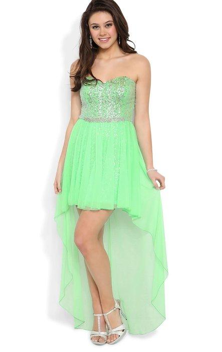 d8b6c726b56 Deb Junior Strapless High Low Prom Dress from Amazon