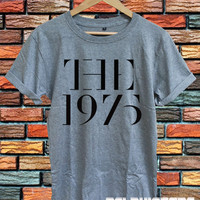 the 1975 shirt the 1975 band tshirt t-shirt tee sport grey printed unisex size (DL-98)