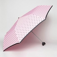 Bombay Duck Bisous Hearts Handbag Umbrella with Heart Handle Pink and Black at asos.com