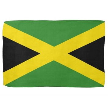 Kitchen towel with Flag of Jamaica