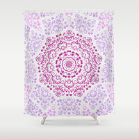 A Glittering Colorful Mandala 2 Shower Curtain by Octavia Soldani | Society6